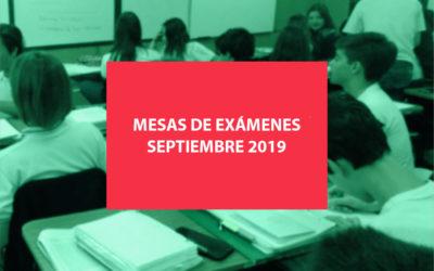 Exámenes septiembre 2019 – Fechas y horarios –