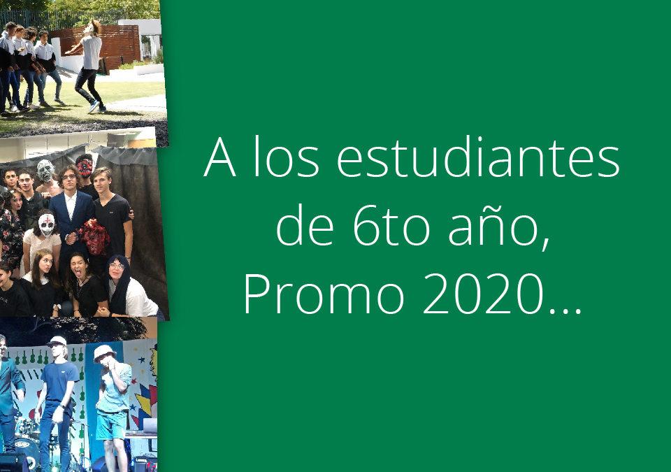 Saludo especial a la Promo 2020 – Nivel Secundario